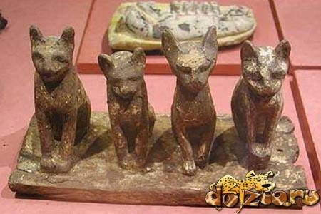 Статуэтки кошек в Древнем Египте